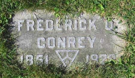 CONREY, FREDERICK O. - Clark County, Ohio | FREDERICK O. CONREY - Ohio Gravestone Photos
