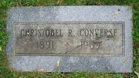 CONVERSE, CHRISTOBEL R. - Clark County, Ohio | CHRISTOBEL R. CONVERSE - Ohio Gravestone Photos