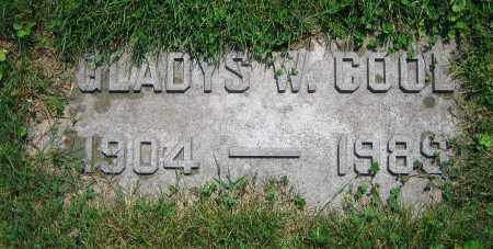 COOL, GLADYS W. - Clark County, Ohio | GLADYS W. COOL - Ohio Gravestone Photos