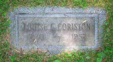 CORISTON, LOUISE G. - Clark County, Ohio | LOUISE G. CORISTON - Ohio Gravestone Photos