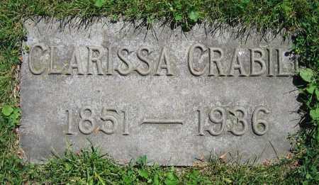 CRABILL, CLARISSA - Clark County, Ohio | CLARISSA CRABILL - Ohio Gravestone Photos