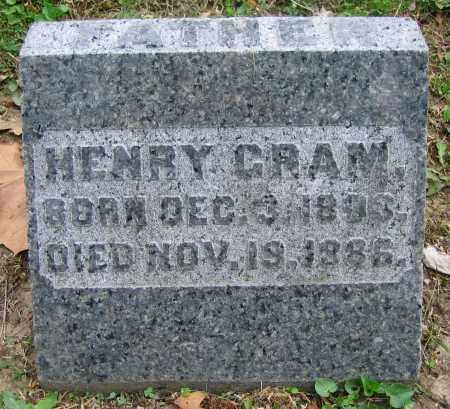 CRAM, HENRY - Clark County, Ohio | HENRY CRAM - Ohio Gravestone Photos