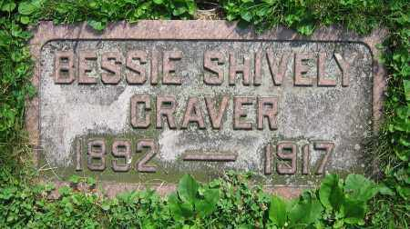SHIVELY CRAVER, BESSIE - Clark County, Ohio | BESSIE SHIVELY CRAVER - Ohio Gravestone Photos