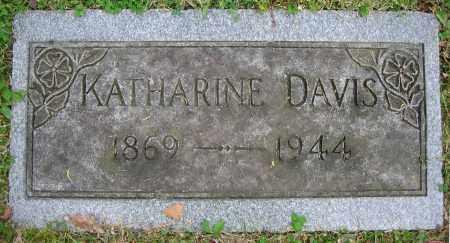 DAVIS, KATHARINE - Clark County, Ohio | KATHARINE DAVIS - Ohio Gravestone Photos