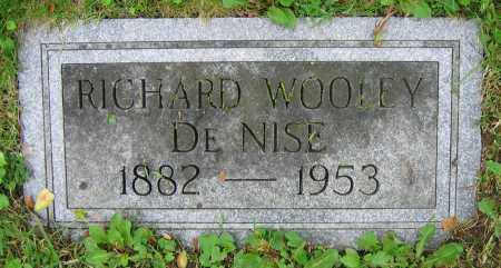 DENISE, RICHARD WOOLEY - Clark County, Ohio | RICHARD WOOLEY DENISE - Ohio Gravestone Photos