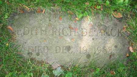 RICH DETRICK, EDITH - Clark County, Ohio | EDITH RICH DETRICK - Ohio Gravestone Photos