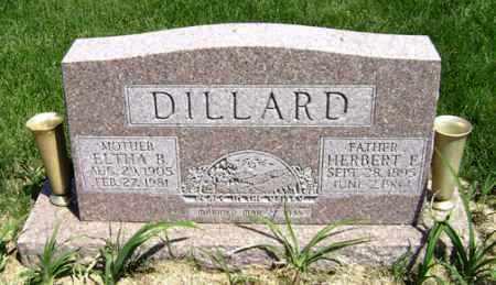DILLARD, HERBERT ELI - Clark County, Ohio | HERBERT ELI DILLARD - Ohio Gravestone Photos