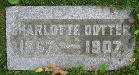 DOTTER, CHARLOTTE - Clark County, Ohio | CHARLOTTE DOTTER - Ohio Gravestone Photos