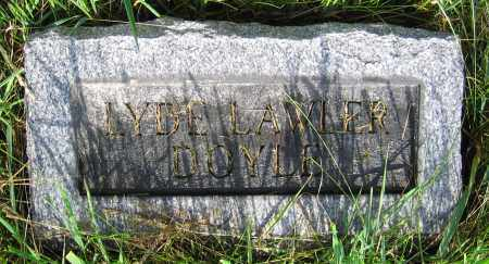 LAWLER DOYLE, LYDE - Clark County, Ohio | LYDE LAWLER DOYLE - Ohio Gravestone Photos