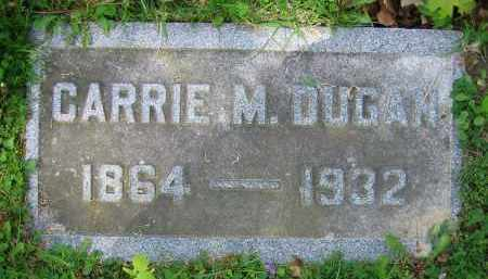 DUGAN, CARRIE M. - Clark County, Ohio | CARRIE M. DUGAN - Ohio Gravestone Photos