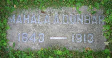 DUNBAR, MAHALA A. - Clark County, Ohio | MAHALA A. DUNBAR - Ohio Gravestone Photos