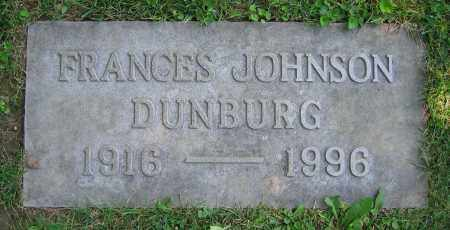 JOHNSON DUNBURG, FRANCES - Clark County, Ohio | FRANCES JOHNSON DUNBURG - Ohio Gravestone Photos