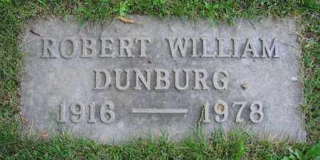 DUNBURG, ROBERT WILLIAM - Clark County, Ohio | ROBERT WILLIAM DUNBURG - Ohio Gravestone Photos