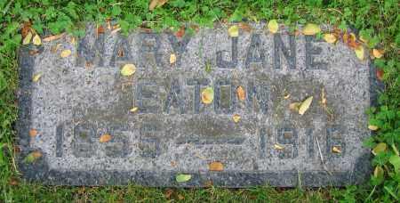 EATON, MARY JANE - Clark County, Ohio | MARY JANE EATON - Ohio Gravestone Photos