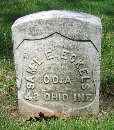 ECKELS, SAM'L E. - Clark County, Ohio | SAM'L E. ECKELS - Ohio Gravestone Photos