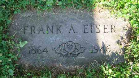 EISER, FRANK A. - Clark County, Ohio | FRANK A. EISER - Ohio Gravestone Photos