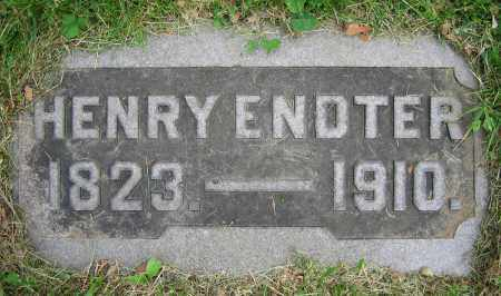 ENDTER, HENRY - Clark County, Ohio | HENRY ENDTER - Ohio Gravestone Photos