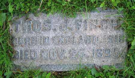 FINCH, THOS. J. - Clark County, Ohio | THOS. J. FINCH - Ohio Gravestone Photos
