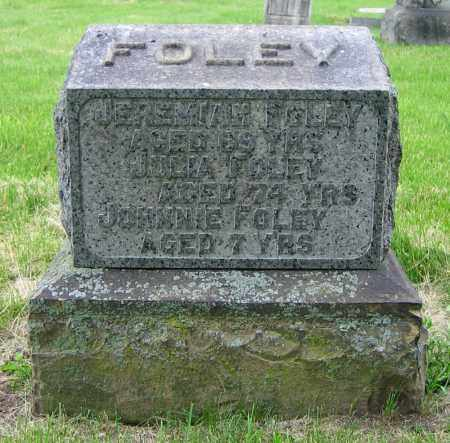 FOLEY, JEREMIAH - Clark County, Ohio | JEREMIAH FOLEY - Ohio Gravestone Photos
