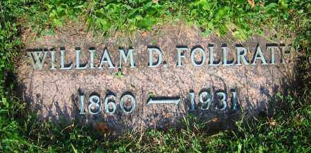FOLLRATH, WILLIAM D. - Clark County, Ohio | WILLIAM D. FOLLRATH - Ohio Gravestone Photos