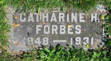 FORBES, CATHARINE H. - Clark County, Ohio | CATHARINE H. FORBES - Ohio Gravestone Photos