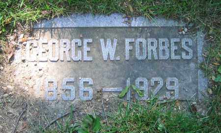 FORBES, GEORGE W. - Clark County, Ohio | GEORGE W. FORBES - Ohio Gravestone Photos