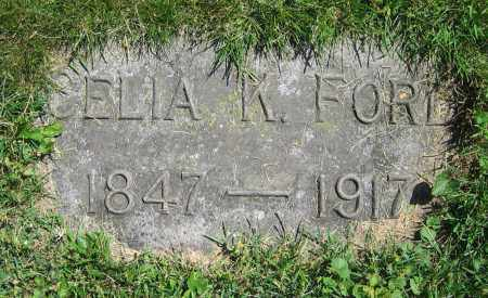 FORD, CELIA K. - Clark County, Ohio | CELIA K. FORD - Ohio Gravestone Photos