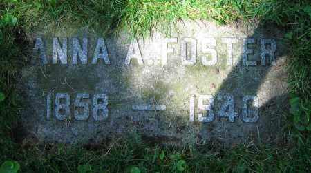 FOSTER, ANNA A. - Clark County, Ohio | ANNA A. FOSTER - Ohio Gravestone Photos