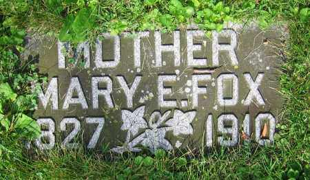FOX, MARY E. - Clark County, Ohio | MARY E. FOX - Ohio Gravestone Photos