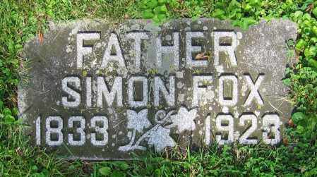 FOX, SIMON - Clark County, Ohio | SIMON FOX - Ohio Gravestone Photos