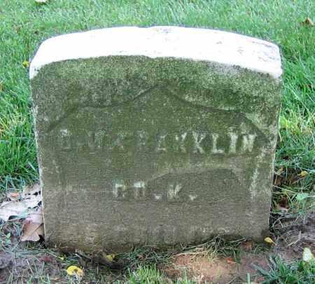 FRANKLIN, B.W. - Clark County, Ohio | B.W. FRANKLIN - Ohio Gravestone Photos