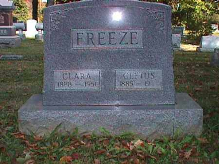 WARNER FREEZE, CLARA LOUISE - Clark County, Ohio | CLARA LOUISE WARNER FREEZE - Ohio Gravestone Photos