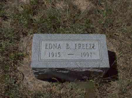 FREEZE, EDNA B. - Clark County, Ohio | EDNA B. FREEZE - Ohio Gravestone Photos