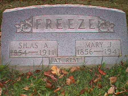 FREEZE, SILAS ABRAHAM - Clark County, Ohio | SILAS ABRAHAM FREEZE - Ohio Gravestone Photos
