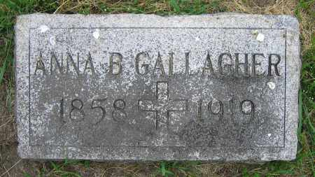 GALLAGHER, ANNA B. - Clark County, Ohio | ANNA B. GALLAGHER - Ohio Gravestone Photos