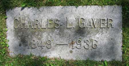 GAVER, CHARLES L. - Clark County, Ohio | CHARLES L. GAVER - Ohio Gravestone Photos