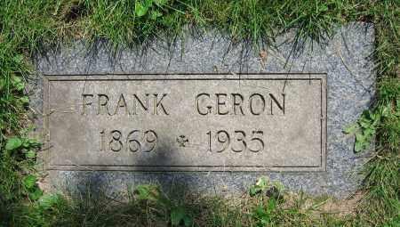GERON, FRANK - Clark County, Ohio | FRANK GERON - Ohio Gravestone Photos