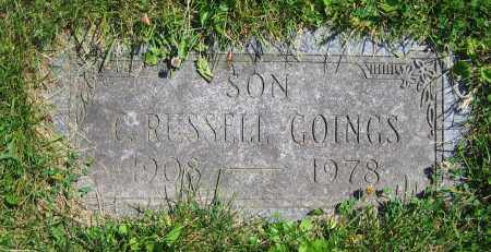 GOINGS, C. RUSSELL - Clark County, Ohio | C. RUSSELL GOINGS - Ohio Gravestone Photos