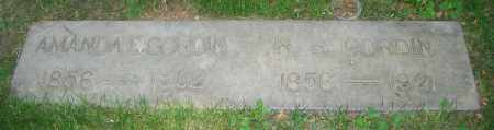 GORDIN, AMANDA E. - Clark County, Ohio | AMANDA E. GORDIN - Ohio Gravestone Photos