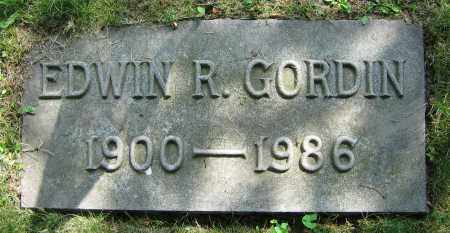 GORDIN, EDWIN R. - Clark County, Ohio | EDWIN R. GORDIN - Ohio Gravestone Photos