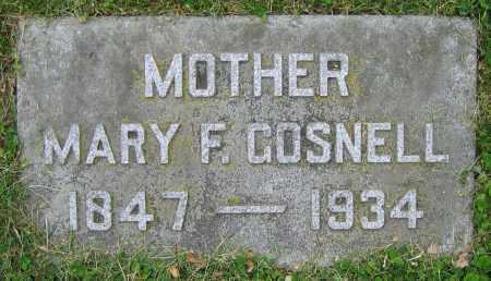 GOSNELL, MARY F. - Clark County, Ohio | MARY F. GOSNELL - Ohio Gravestone Photos