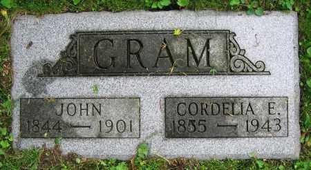 GRAM, CORDELIA E. - Clark County, Ohio | CORDELIA E. GRAM - Ohio Gravestone Photos
