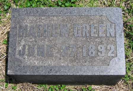 GREEN, MATHEW - Clark County, Ohio | MATHEW GREEN - Ohio Gravestone Photos