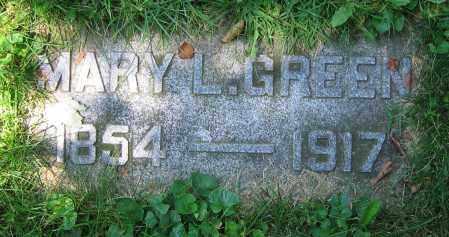 GREEN, MARY L. - Clark County, Ohio | MARY L. GREEN - Ohio Gravestone Photos