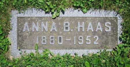 HAAS, ANNA B. - Clark County, Ohio | ANNA B. HAAS - Ohio Gravestone Photos