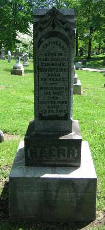 HAERR, MARGARETHA - Clark County, Ohio | MARGARETHA HAERR - Ohio Gravestone Photos