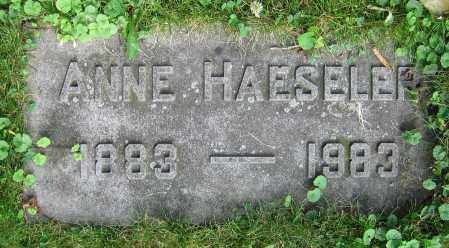 HAESELER, ANNE - Clark County, Ohio | ANNE HAESELER - Ohio Gravestone Photos