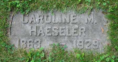 HAESELER, CAROLINE M. - Clark County, Ohio | CAROLINE M. HAESELER - Ohio Gravestone Photos