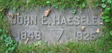 HAESELER, JOHN E. - Clark County, Ohio | JOHN E. HAESELER - Ohio Gravestone Photos