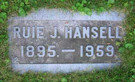 HANSELL, RUIE J. - Clark County, Ohio | RUIE J. HANSELL - Ohio Gravestone Photos